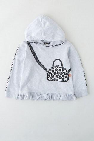 Angel & Rocket Grey Handbag Hooded Sweatshirt