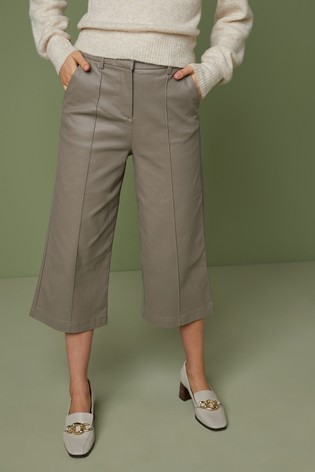 Mink Coated Denim Culottes