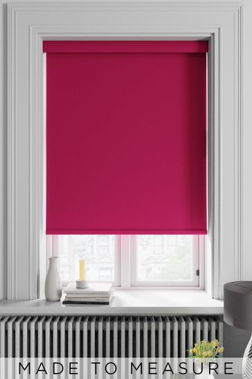 Haig Burgundy Purple Made To Measure Blackout Roller Blind