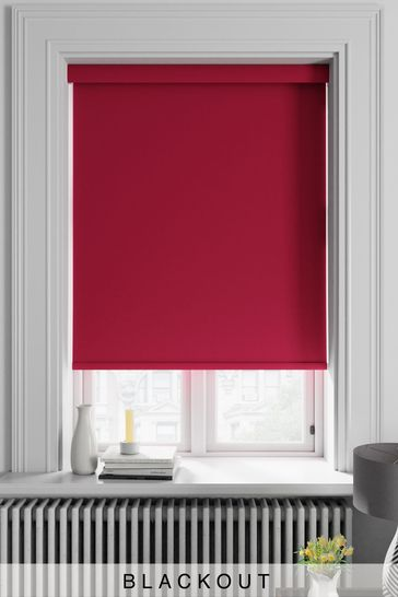 Haig Ruby Red Made To Measure Blackout Roller Blind