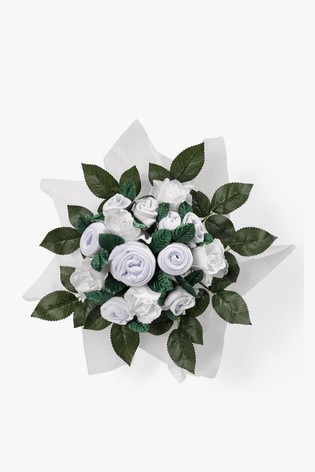 Babyblooms White New Baby Clothes Bouquet Gift