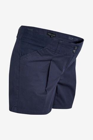 Navy Maternity Chino Shorts
