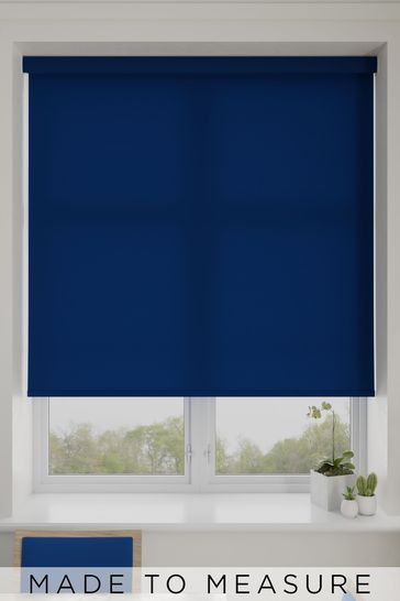 Asher Blueberry Blue Made To Measure Light Filtering Roller Blind