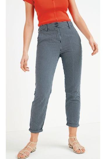 Navy Stripe Chino Trousers