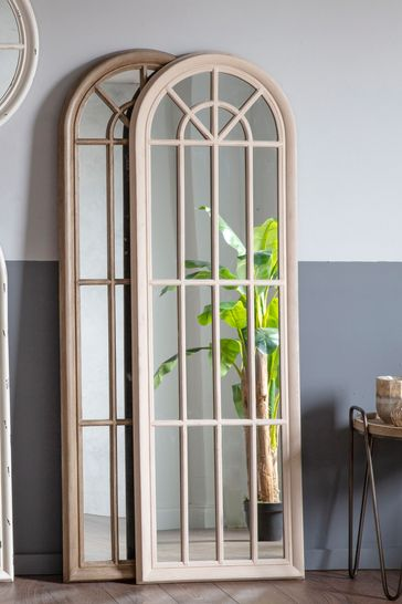 Gallery Direct Chagford Antique White Mirror