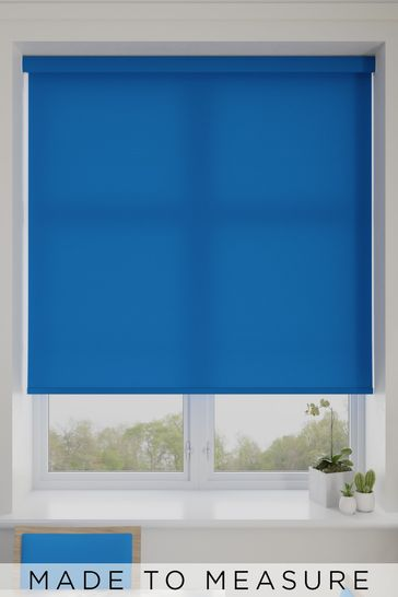 Asher Electric Blue Made To Measure Light Filtering Roller Blind