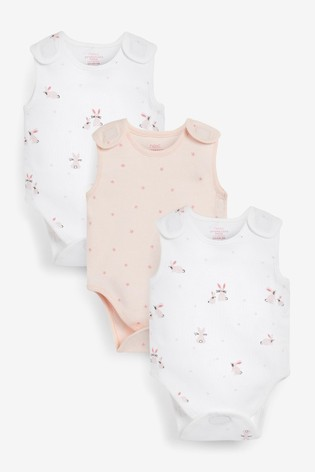 Pink Premature 3 Pack Vest Bodysuits (0-0mths)