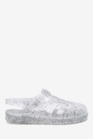Silver Glitter Jelly Shoes (Older)