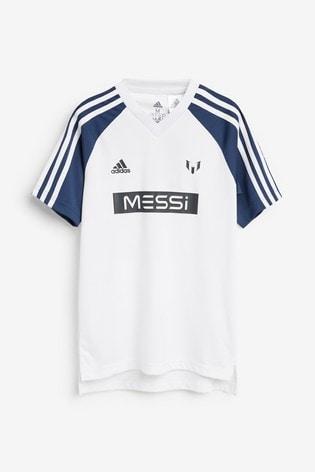 adidas White Messi Set