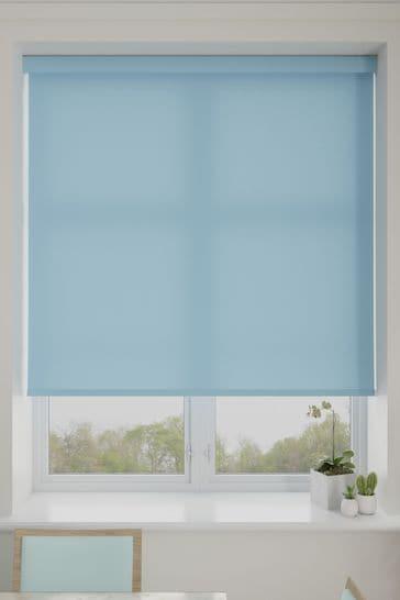 Asher Cornflower Blue Made To Measure Light Filtering Roller Blind