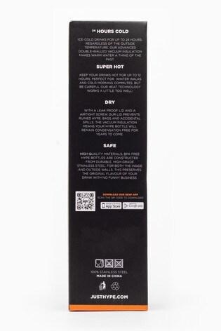 Hype. Fuchsia Fade Shine Metal Reusable Bottle