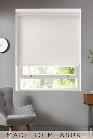 Woven Linear Stem Natural Made To Measure Roller Blind by Orla Kiely