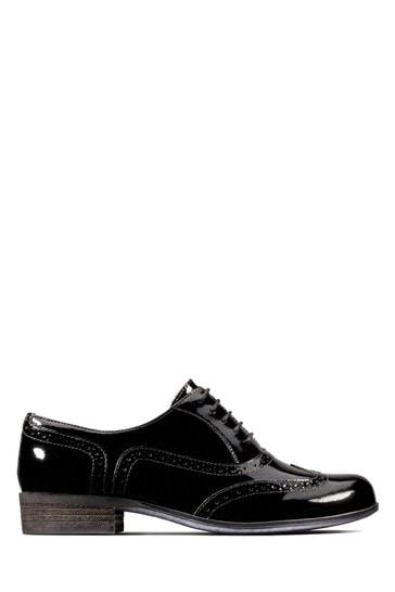 Clarks Black Patent Hamble Oak Shoes