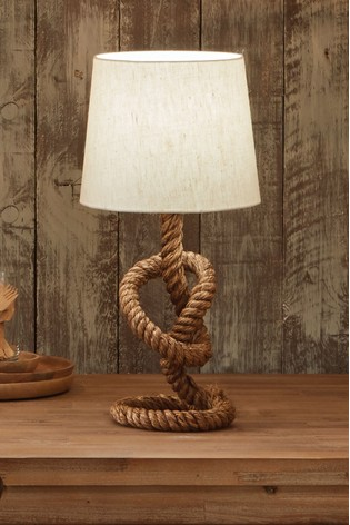 Martindale Rope Knot & Jute Table Lamp by Pacific