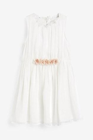 Ecru Corsage Dress (3-16yrs)