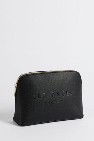 Ted Baker Black Lieaah Crosshatch Deboss Make-Up Bag