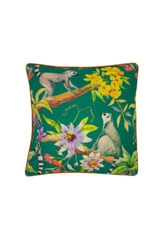 Lemur Floral Print Cushion by Riva Home