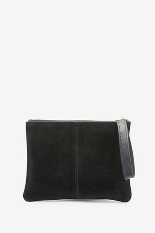 Oasis Black Leather Pouch