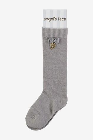 Angel's Face Grey Charming Socks
