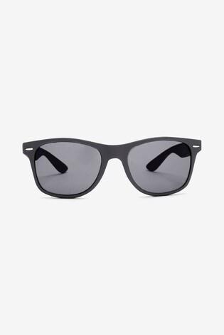 Grey Rubber Effect Sunglasses
