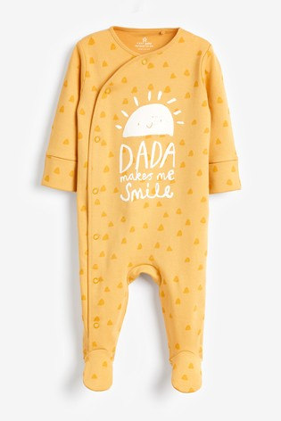 Ochre Sunshine Dada Sleepsuit (0-18mths)