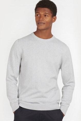 Barbour® Cream Pima Cotton Crew Neck Sweater