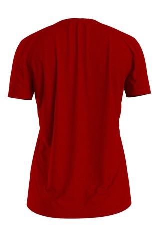 Tommy Hilfiger Red Essential Crew Neck T-Shirt