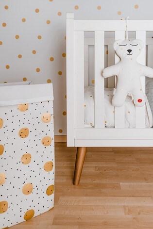 Childhome Canvas Gold Dots Storage Box