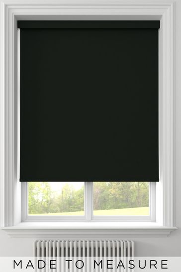 Syson Black Made To Measure Waterproof Roller Blind