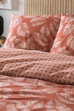 Japandi Red Bedset by Furn