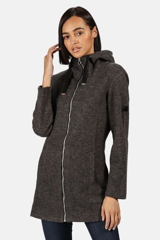 Regatta Black Reeva Longline Hooded Fleece