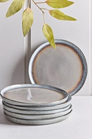 Set of 6 Cox & Cox Maja Stoneware Dinner Plates