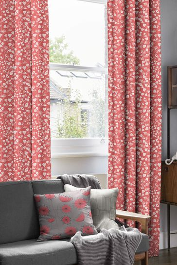 MissPrint Pink Fern Made To Measure Curtains