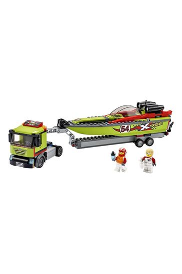 LEGO 60254 City Great Vehicles Race Boat Transporter Set