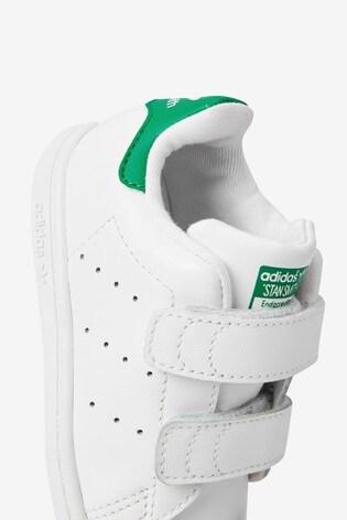 Buy adidas Originals White/Green Stan
