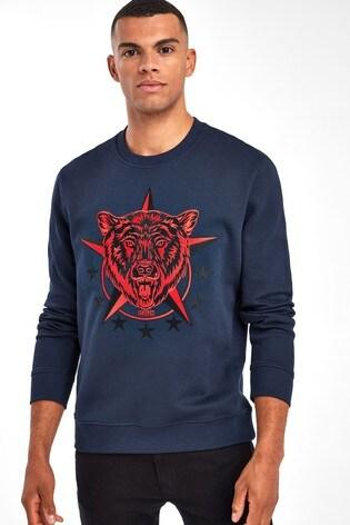 HUGO Blue Daller Berlin Bear Sweatshirt