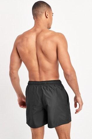 adidas Black Solid Swim Shorts