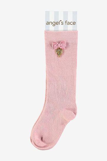 Angel's Face Pink Charming Socks