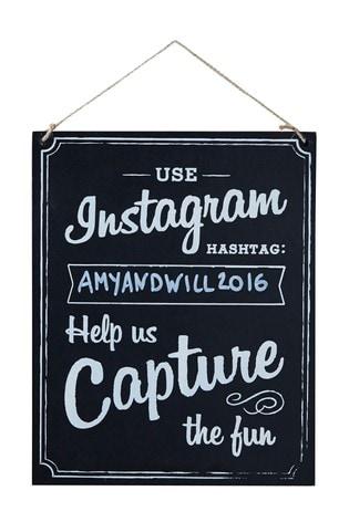 Ginger Ray Wooden Chalkboard Instagram Sign
