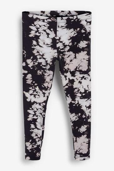 Black/White Tie Dye Leggings (3-16yrs)