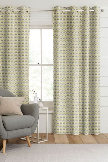 Varese Zest Yellow Made To Measure Curtains