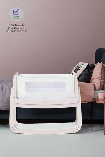 SnuzPod4 Bedside Crib Rose