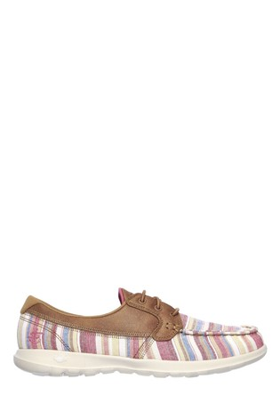 Skechers® Brown Go Walk Lite Beachside Boat Shoes