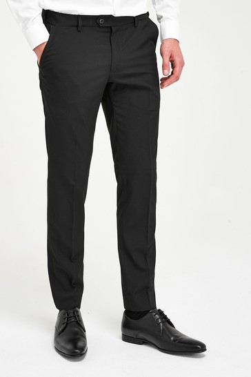 Black Skinny Fit Trousers with Motion Flex Waistband