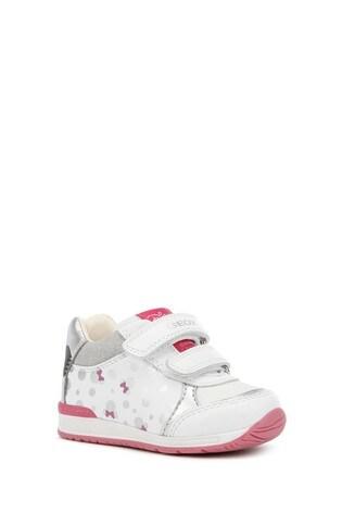 Geox Baby Girl's Rishon White Velcro Trainers