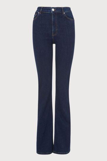 LK Bennett Blue Cora Flare Casual Trend Jeans