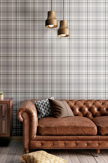 Kelso Check Wallpaper by Catherine Lansfield