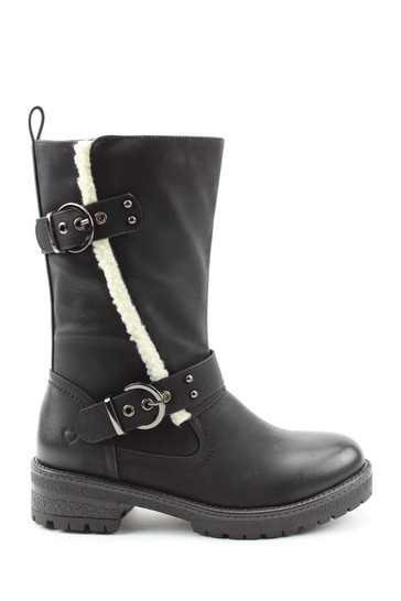 Heavenly Feet Black Ladies Mid-Calf Boots