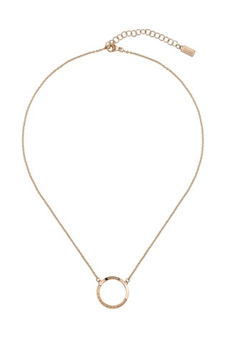 BOSS Ophelia Carnation Gold IP Necklace