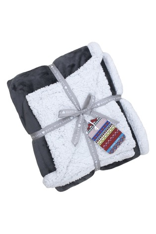 Luxury Supersoft Deep Pile Sherpa Fleece Throw by Riva Home